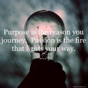 Importance of the purpose and passion in life